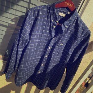 Lacoste Mens size XL long sleeve button down shirt